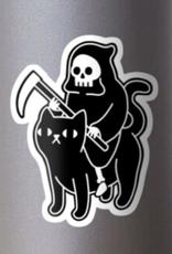 Death Rides a Black Cat Sticker