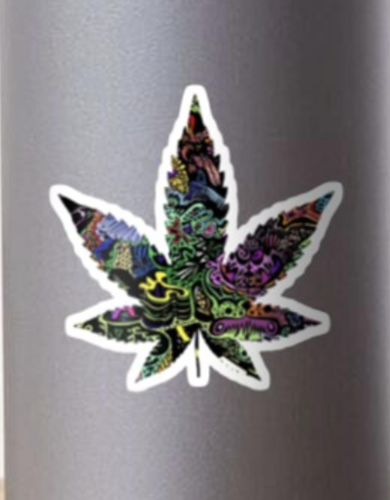 Trippy Weed Sticker