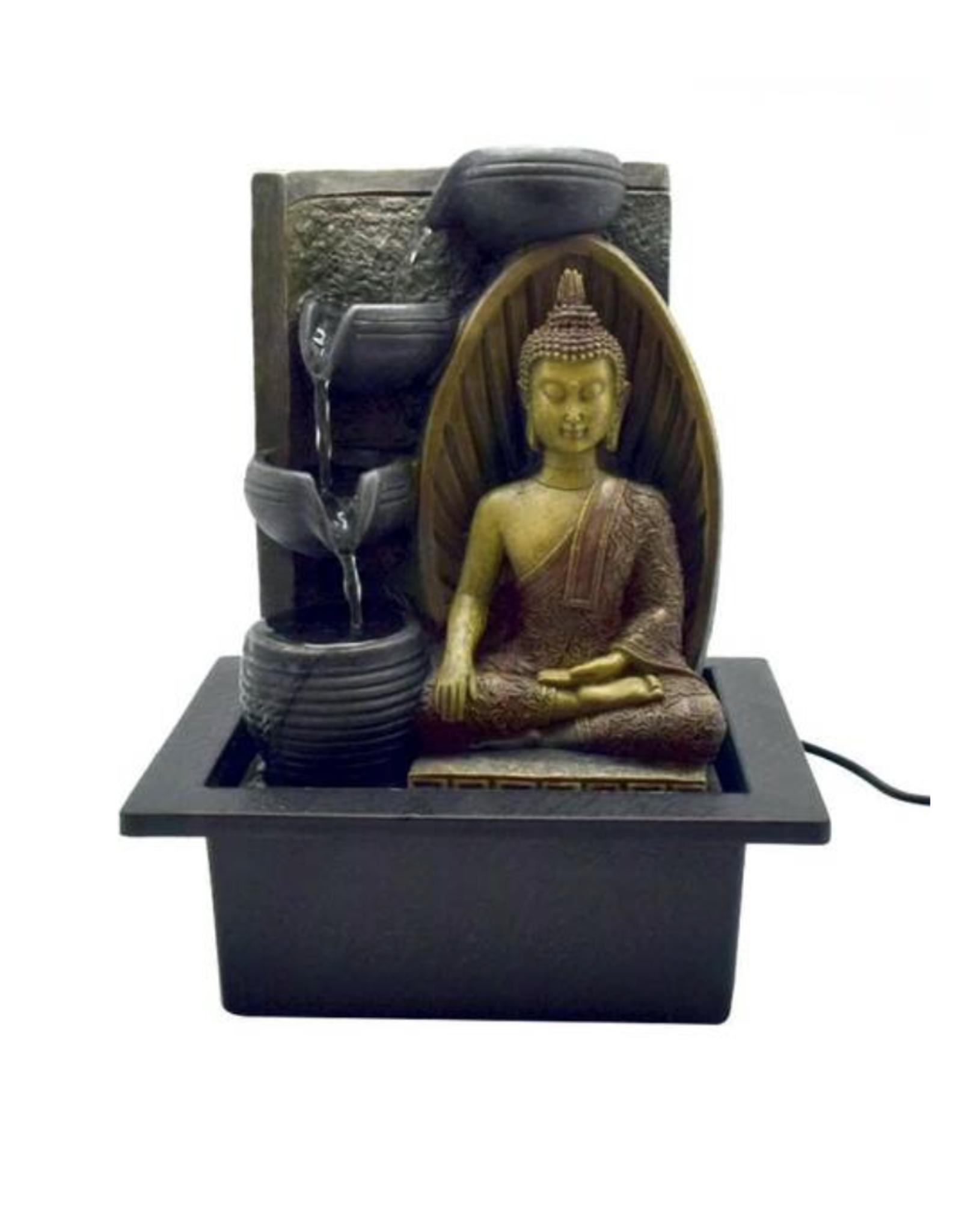 """10"""" x 8"""" Earth Touching Buddha Water Fountain"""