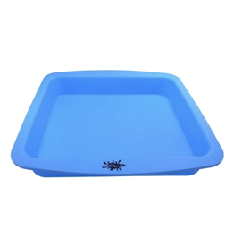 "NoGoo Silicone 8""x8"" Square Deep Dish - Blue"