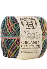 Hemptique Beeswaxed Hemp Wick 200' 1mm - Variegated Rainbow
