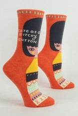 Bitchy Button Crew Socks