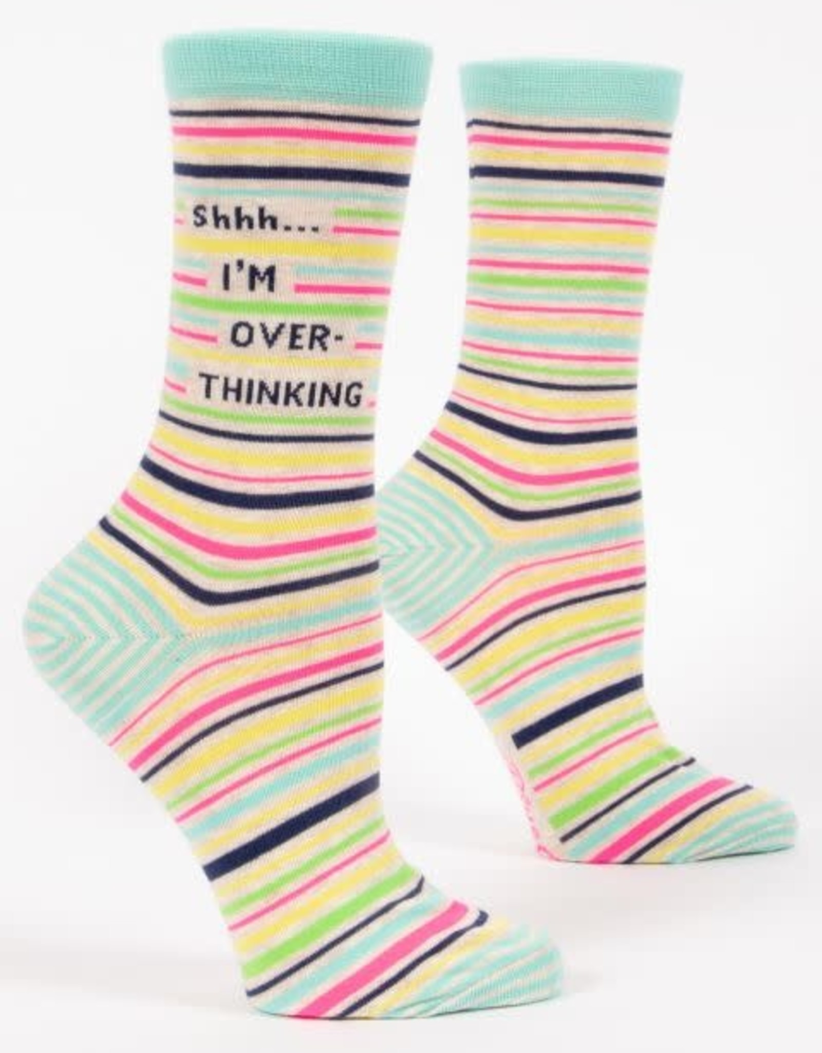 Shhh..I'm Overthinking Crew Socks