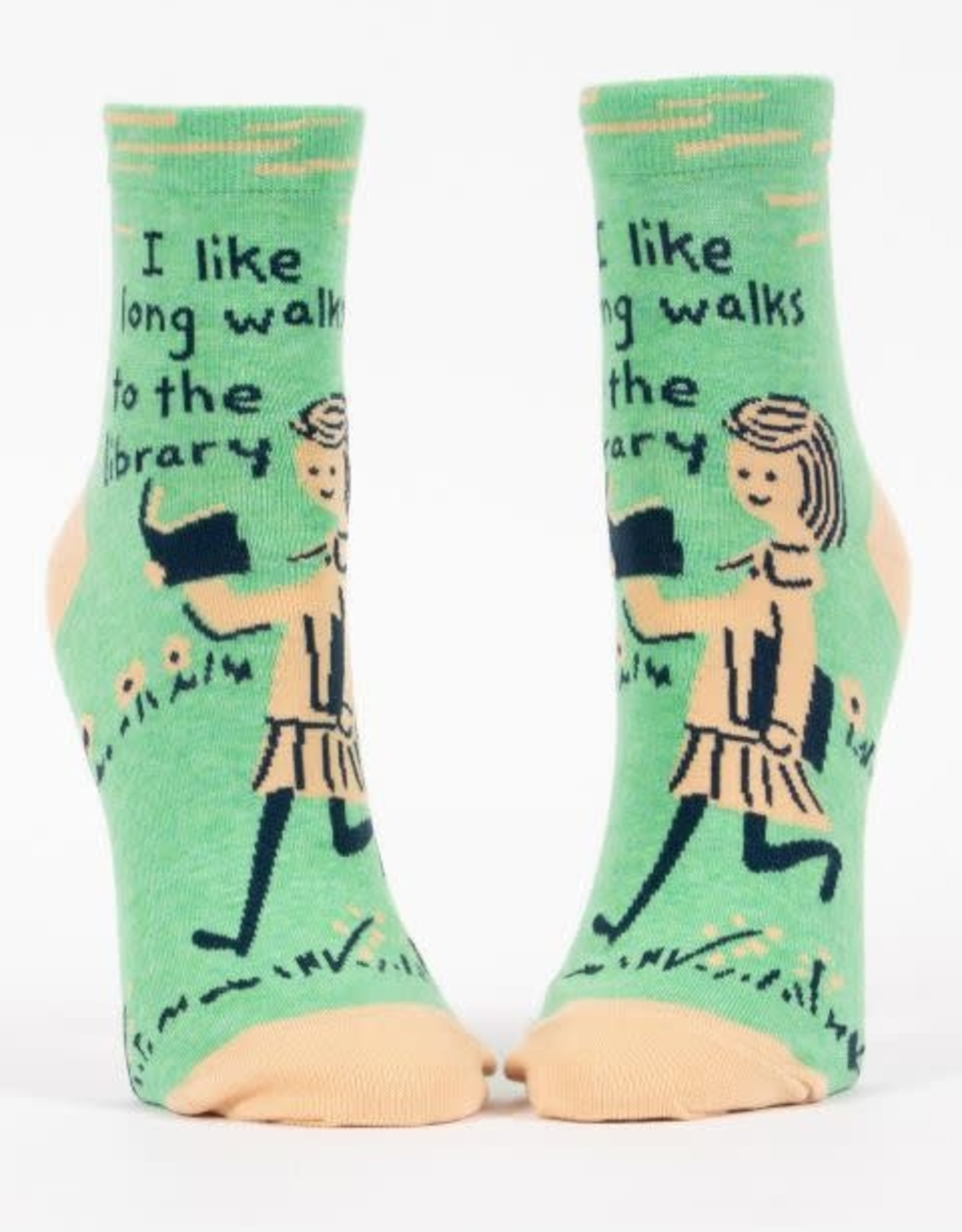 Long Walks to the Library Ankle Socks