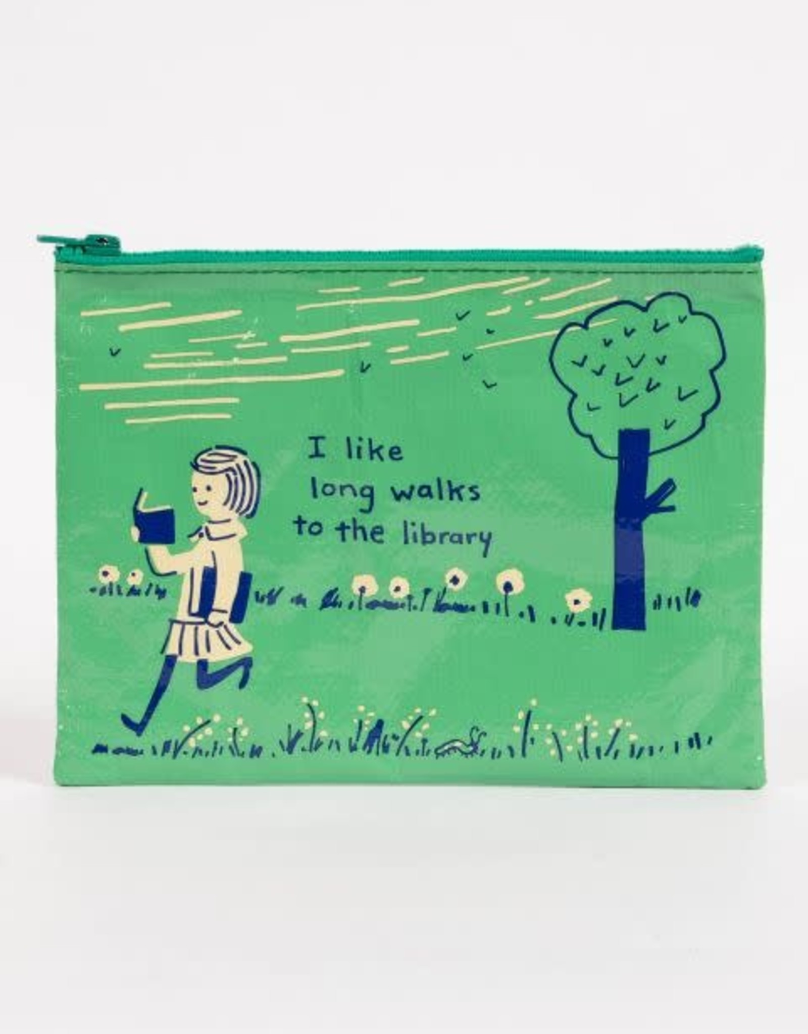 Long Walks to the Library Zipper Pouch