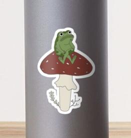 Wall Frog on Mushroom Sticker