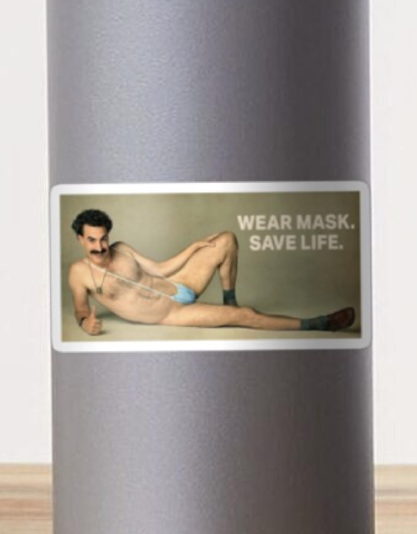 Borat Wear Mask Sticker