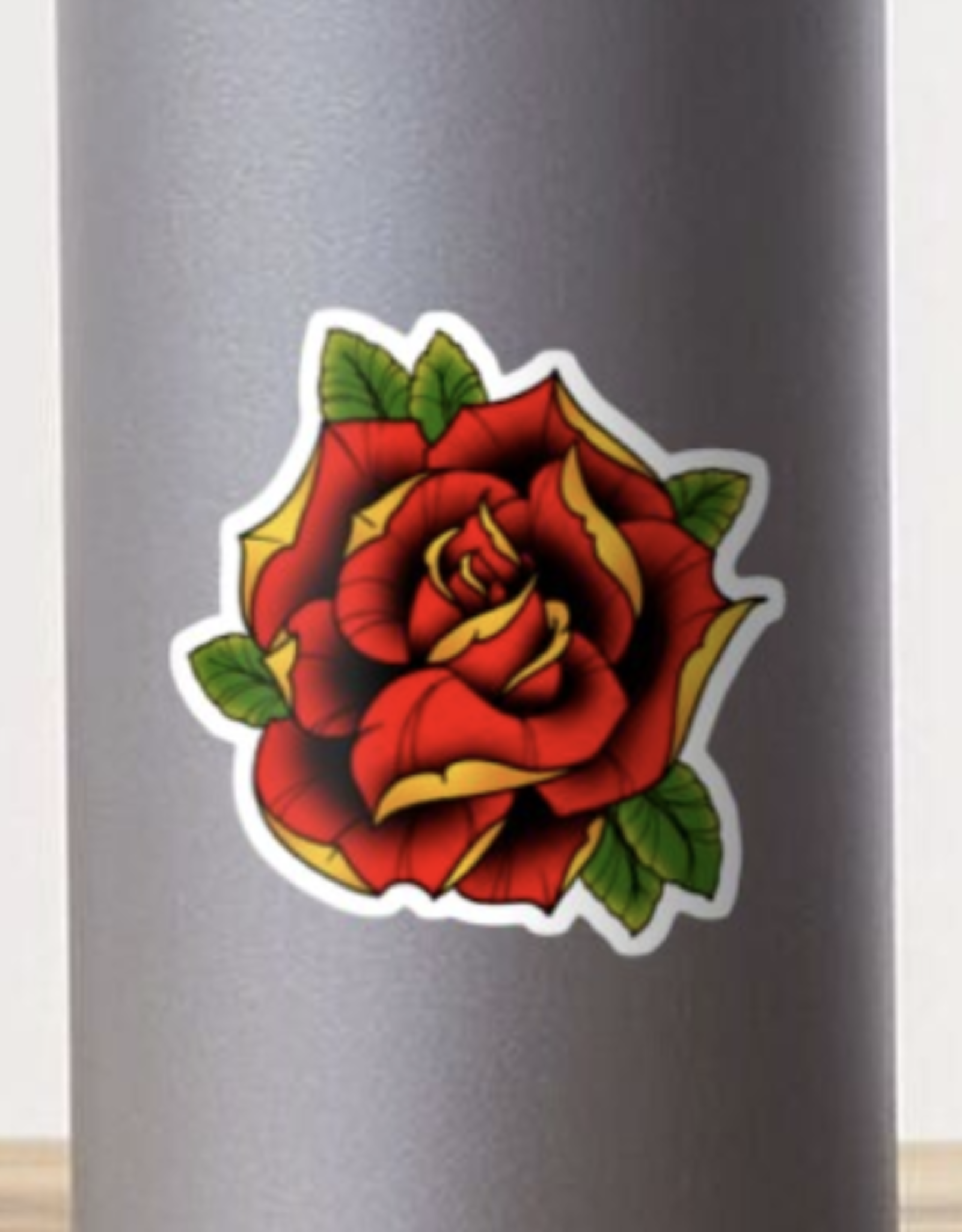 Neotraditional Rose Sticker