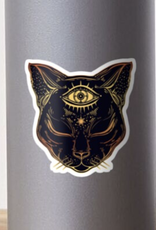 Egyptian Cat w/ Third Eye Sticker