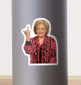 Betty White Middle Finger Sticker