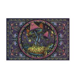 "Mushrooms 3D Tapestry - 60"" x 90"""