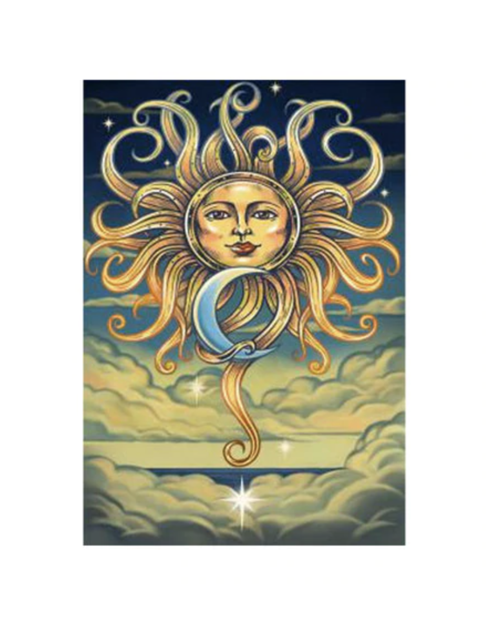 """Intertwined Sun & Moon 3D Tapestry - 60"""" x 90"""""""