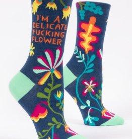 Delicate Fucking Flower Crew Socks