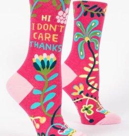 Hi. I Don't Care Crew Socks