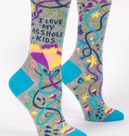 Love My Asshole Kids Crew Socks