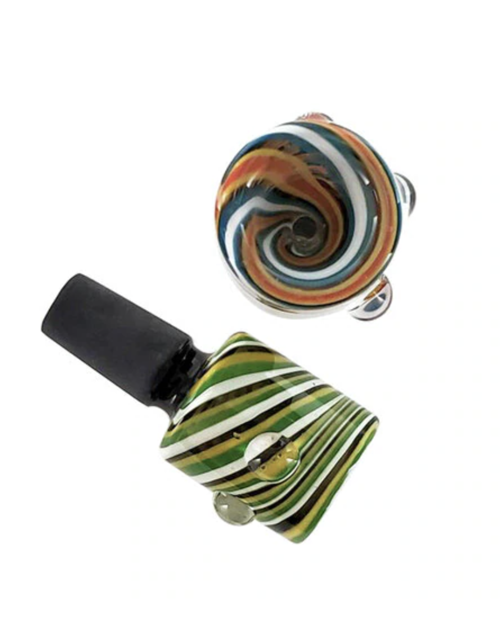 14mm Male Colour Swirl Stove Pipe Bowl