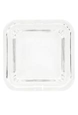 Deep Cube Glass Crystal Ashtray