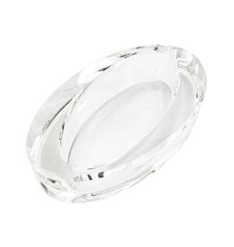 Oval Slant Glass Crystal Ashtray