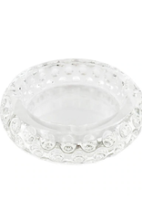 Round Concave Glass Crystal Ashtray