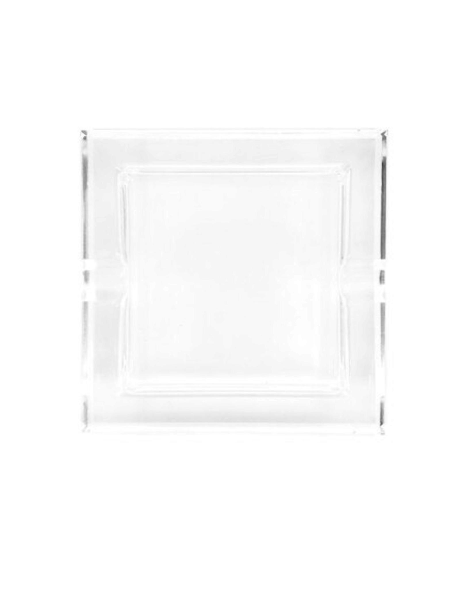 Straight Square Glass Crystal Ashtray