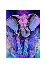 "Mandala Purple Elephant 3D Tapestry - 60"" x 90"""