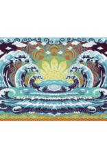 "Wave Mandala 3D Tapestry - 60"" x 90"""