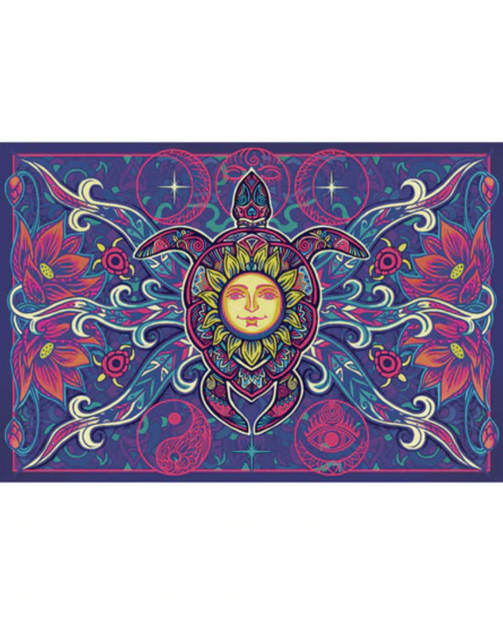 """Turtle 3D Tapestry - 60"""" x 90"""""""