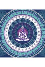 """Buddha Mandala Single Tapestry - 60"""" x 90"""""""