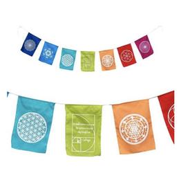 "Geometry Mandala / Carl Sagan Flag Banner - 8.5"" x 11"" Flag x 94"" Long Banner"