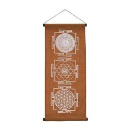 "Geometric Mandala - 32.5"" Long Banner"