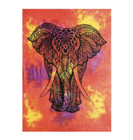 "Tie Dye King Elephant Tapestry - 55"" x 85"" by ThreadHeads"
