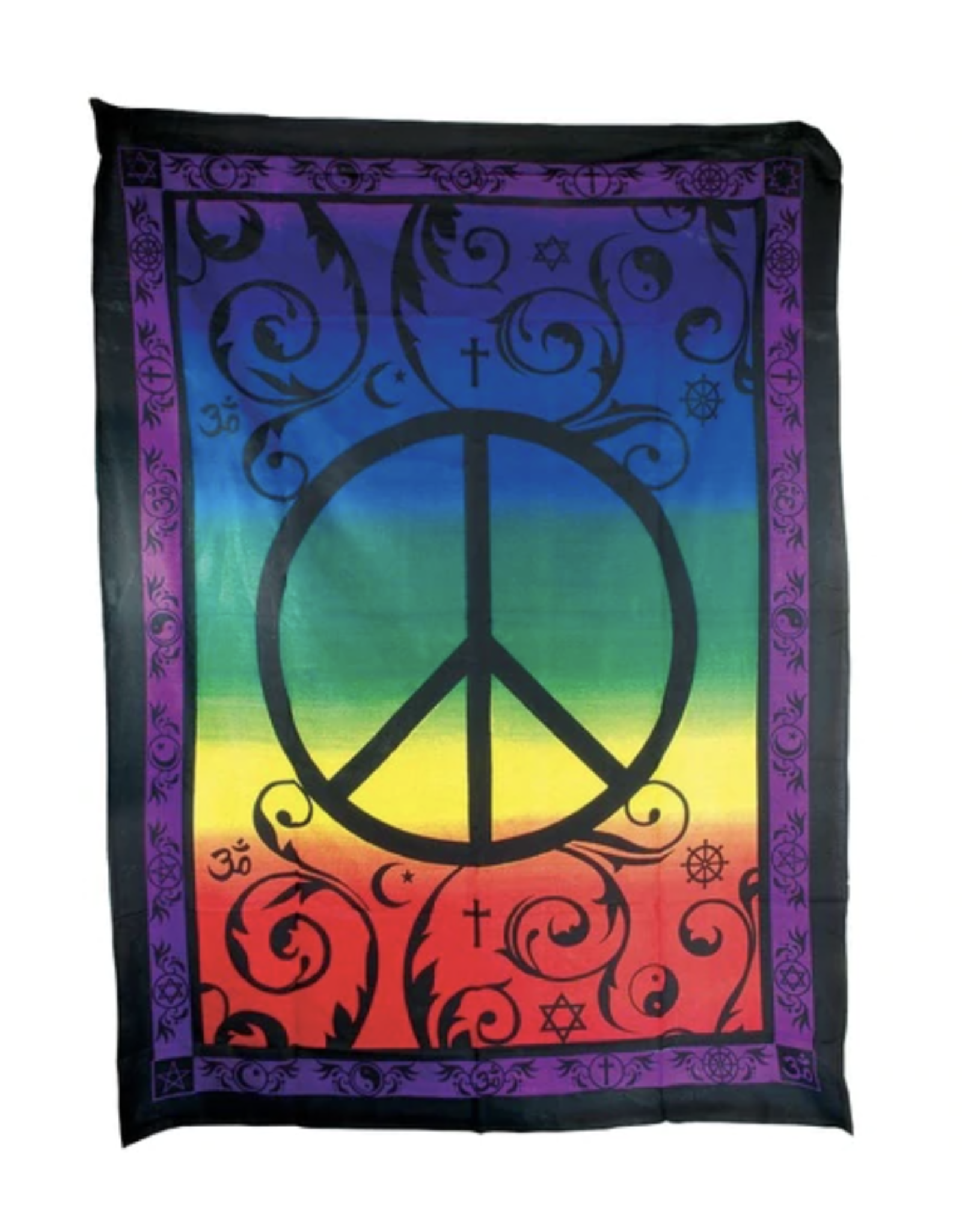 """Peace Tapestry by ThreadHeads - 55"""" x 85"""""""