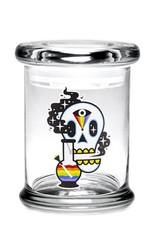 420 Science Medium Pop Top Jar - Cosmic Skull