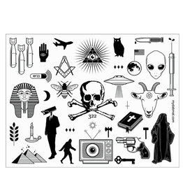 "11"" x 8.5"" Conspiracy Theory Dab Mat by My Dab Mat"