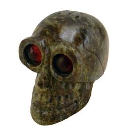 """2.25"""" Skull w/ Red Eyes Incense Burner"""