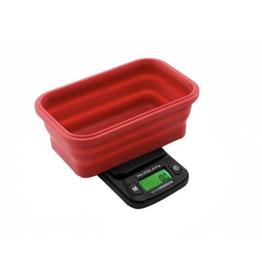Truweigh - Mini Crimson - Collapsible Bowl Scale 100g x 0.01g