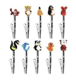 """3"""" Glass Animal Clips - Assorted"""