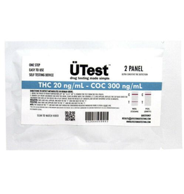 UTest 2 Panel THC 20ng & Cocaine 300ng