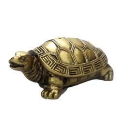 """2.25"""" Gold Turtle Resin Incense Burner"""
