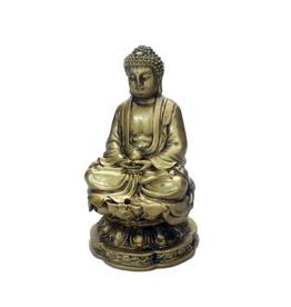 "4"" Gold Buddha Resin Incense Burner"