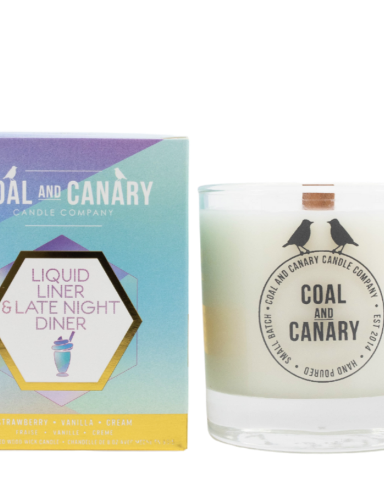 Liquid Liner & Late Night Diner - 8oz. Wood Wick Candle