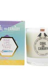 Pink Lips & Limo Trips - 8oz. Wood Wick Candle