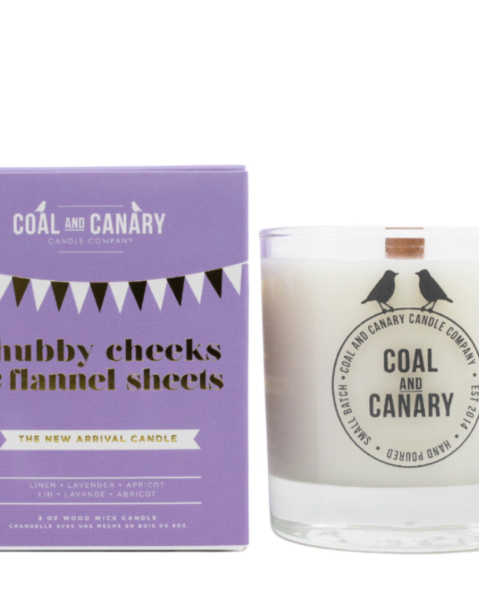Chubby Cheeks & Flannel Sheets - 8oz. Wood Wick Candle