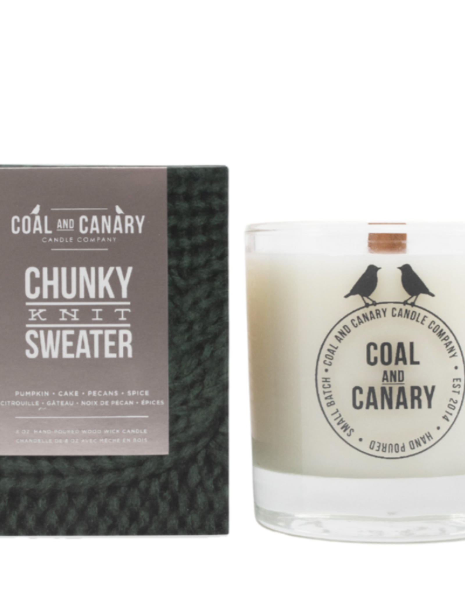 Chunky Knit Sweater - 8oz. Wood Wick Candle