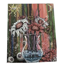 Dunkees Canvas Print on Wood Frame - Flowers