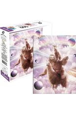 Laser Eyes Cat Sloth Llama Puzzle - 500 Piece