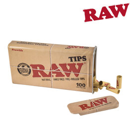 RAW RAW Tips in Tin - 100 Pre-Rolled Tips