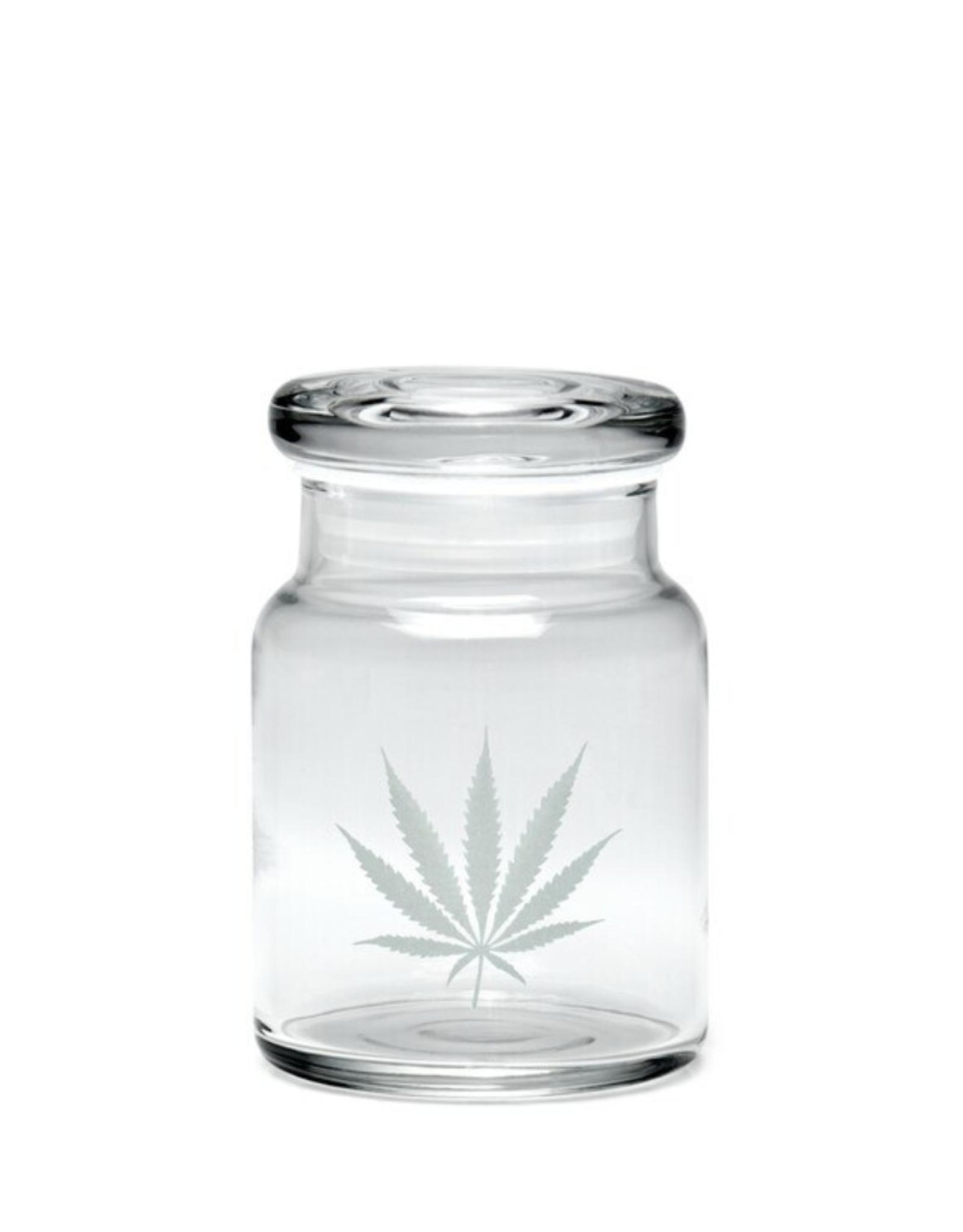 420 Science Small Pop Top Jar - Silver Leaf