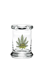 420 Science Small Pop Top Jar Small - Three-Eyed Leaf