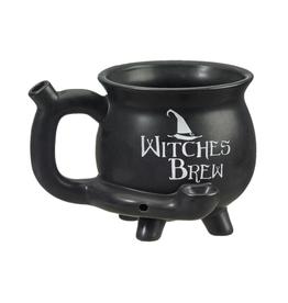 Premium Roast & Toast Mug w/ Pipe - Witches Brew Cauldron